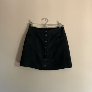 H&M   faux suede leather skirt